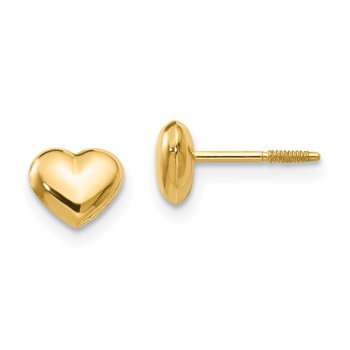 14k Madi K Sm. Puffed Heart Earrings