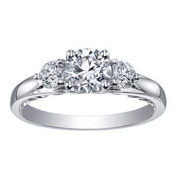 Maple Leaf Diamond Tides of Love Ladies Three Stone Ring