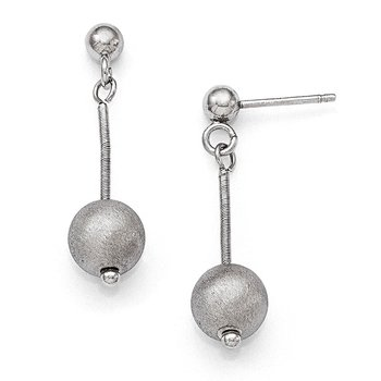 Leslie's Sterling Silver Polished & Textured Post Dangle Earrings