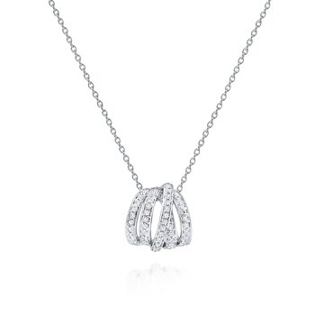 Diamond 5 Loop Slider Necklace Set in 14 Kt. Gold