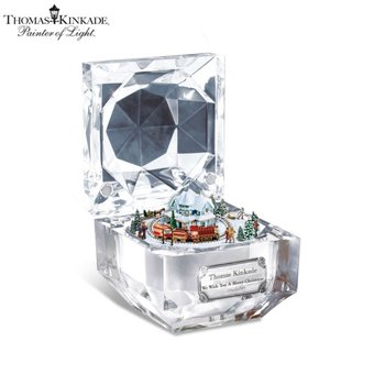 Thomas Kinkade 'We Wish You a Merry Christmas' Music Box