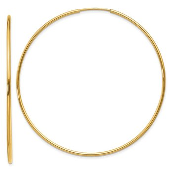 14k 1.25mm Endless Hoop Earring