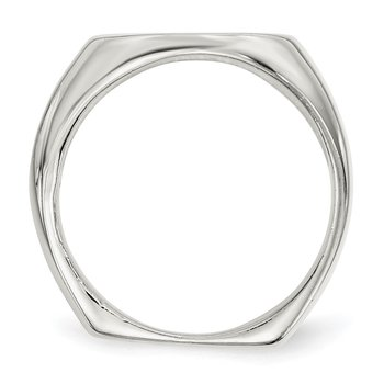 Sterling Silver 18x14mm Open Back Signet Ring