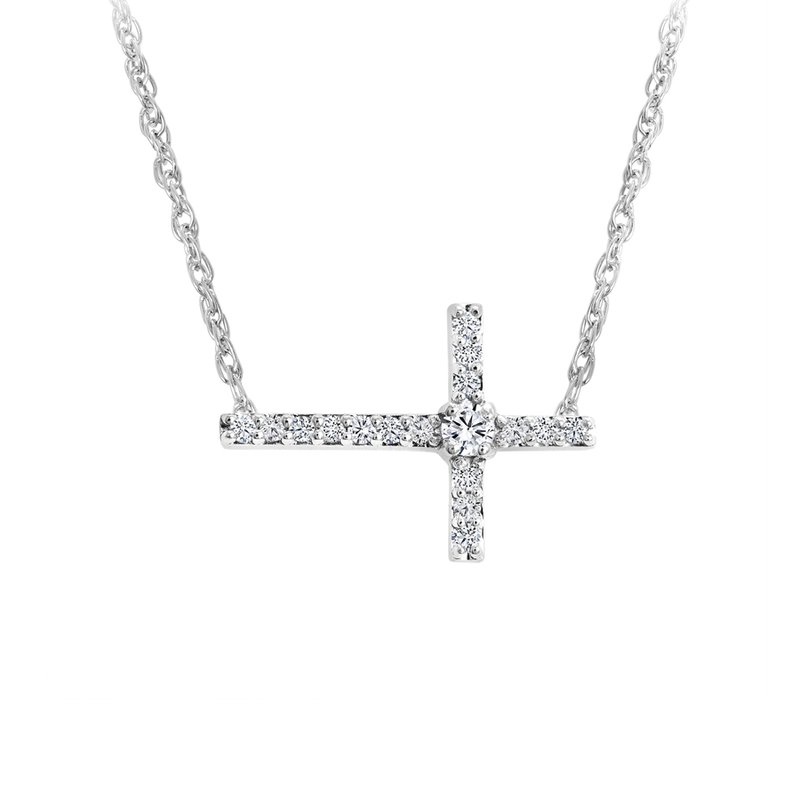 Canadian Rocks Sideways Cross Pendant