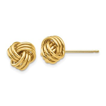 14k Polished Triple Knot Post Earrings