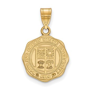 Gold-Plated Sterling Silver Bowling Green State University NCAA Pendant