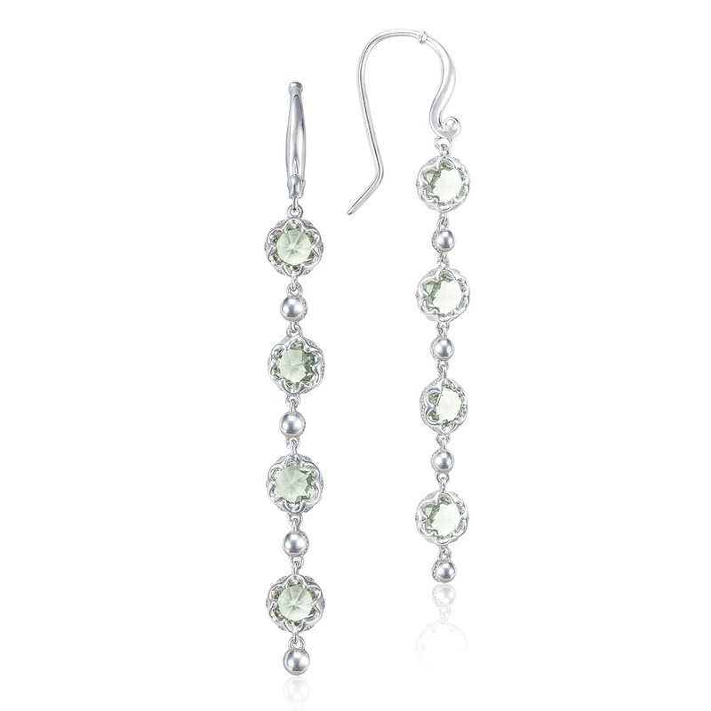 Tacori Fashion Rain Drop Earrings featuring Prasiolite