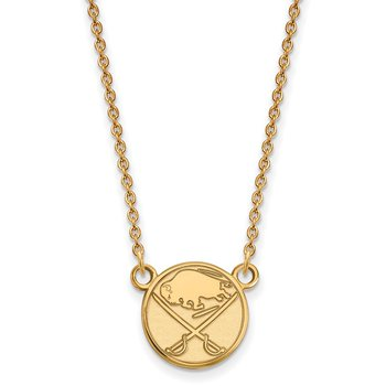 Gold Buffalo Sabres NHL Necklace