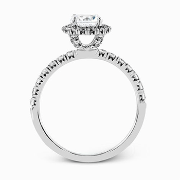 Classic White Gold Halo Engagement Ring