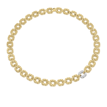 18Kt Gold Necklace With Diamond Link