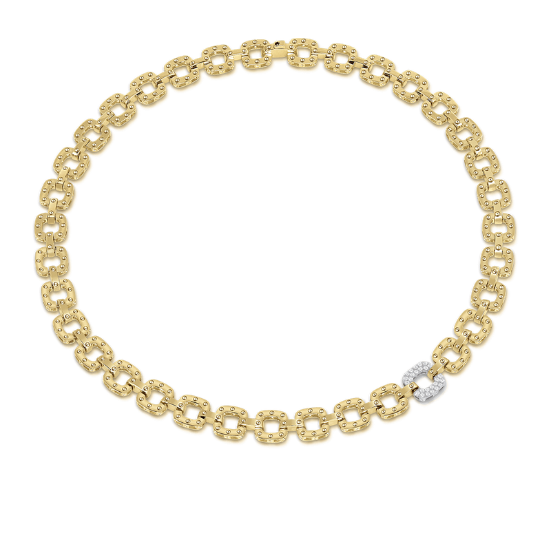 Roberto Coin 18Kt Gold Necklace With Diamond Link