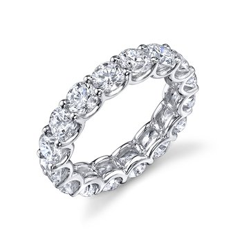 Round Diamond U Prong Eternity Band