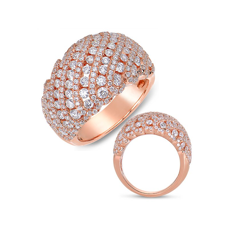 S. Kashi  & Sons Rose Gold Fashion Diamond Ring
