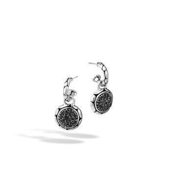 Kali Small Round Hoop Drop Earrings
