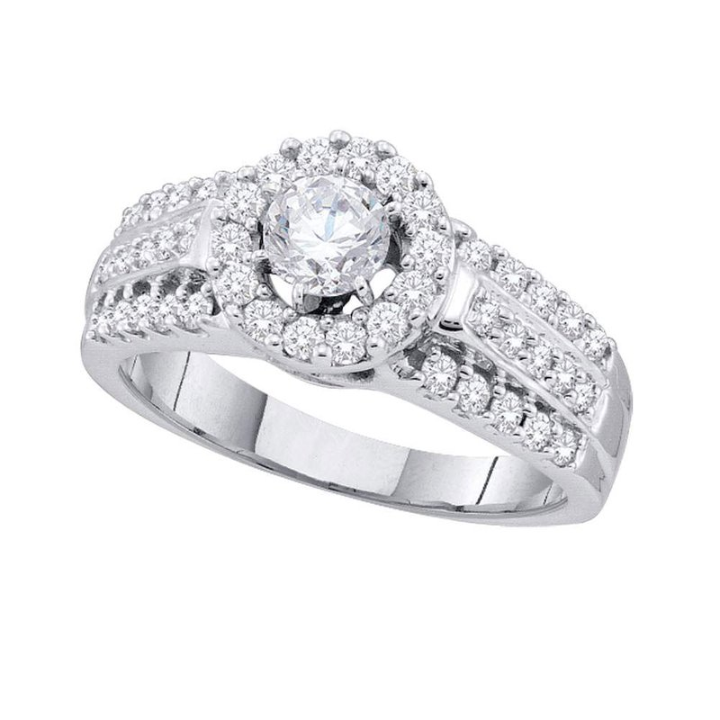 Kingdom Treasures 14kt White Gold Womens Round Diamond Solitaire Bridal Wedding Engagement Ring 1.00 Cttw
