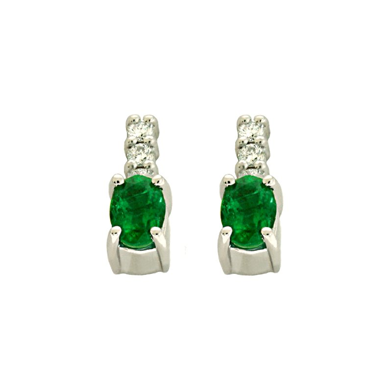 Briana Emerald & Diamond Earring