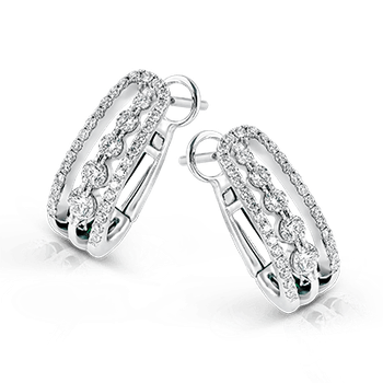 Simon G 18kt white gold diamond hoop earrings. Diamond =0.69ct tw. Available at our Halifax store.