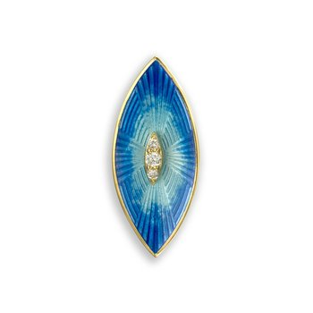 Blue Marquise Pendant.18K -Diamond