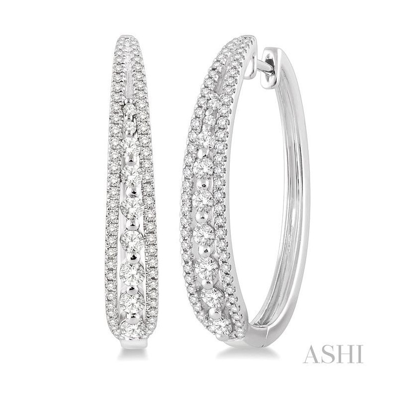 Crocker's Collection diamond hoop earrings