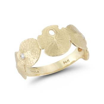 "14K Seashell ring 1/4"" wide on top"