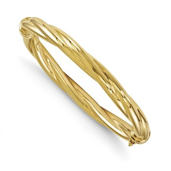Leslie's 14K Polished Twisted Hinged Bangle