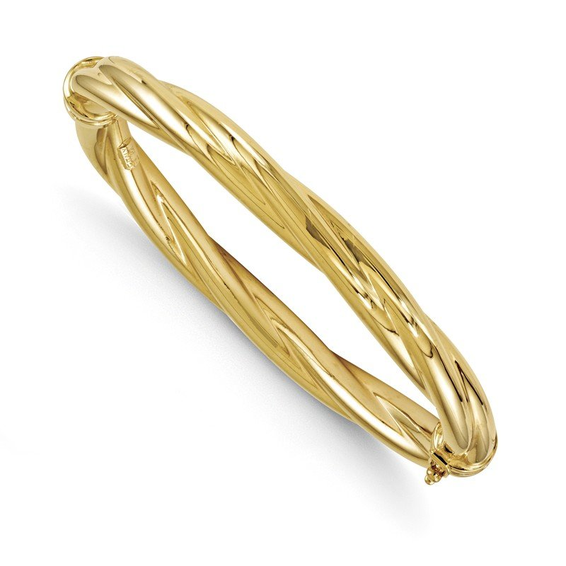 Leslie's Leslie's 14K Polished Twisted Hinged Bangle
