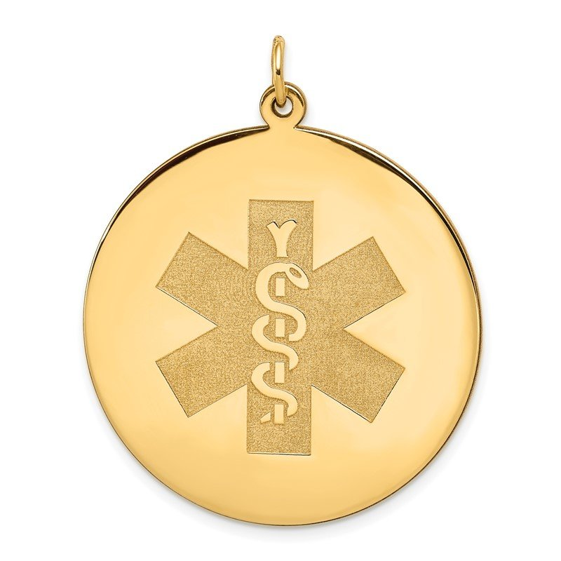 Quality Gold 14k Medical Jewelry Unenameled Pendant