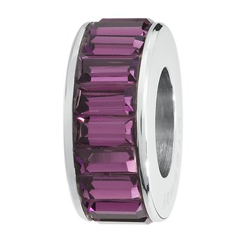 316L stainless steel and Swarovski® Elements amethyst crystals
