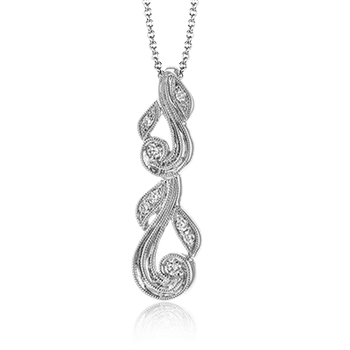 Simon G 18kt white gold diamond necklace, 8=0.10ct. Available at our Halifax store.