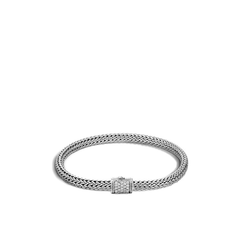 JOHN HARDY Classic Chain 5MM Bracelet in Silver with Diamonds