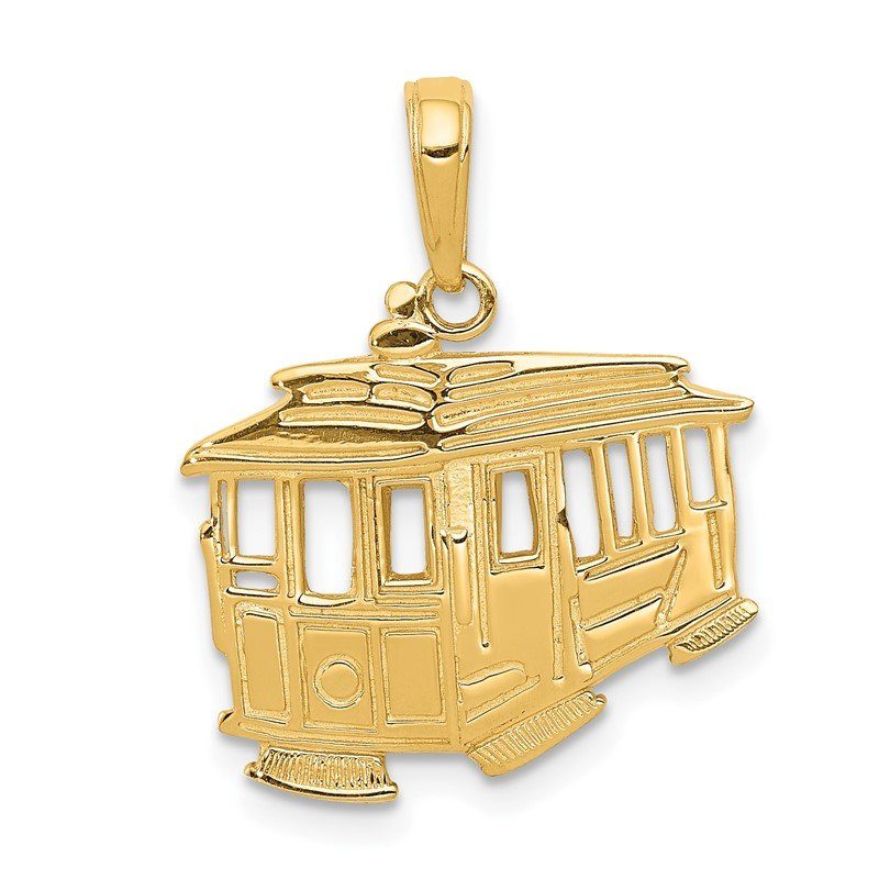 Quality Gold 14k Cable Car Pendant