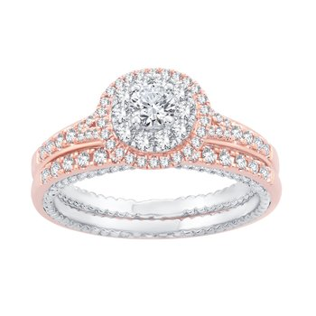 14K 1.05Ct Diamond Bridl Ring
