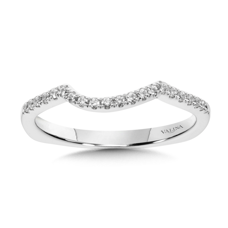 Valina Diamond and 14K White Gold Wedding Ring (0.13 ct. tw.)