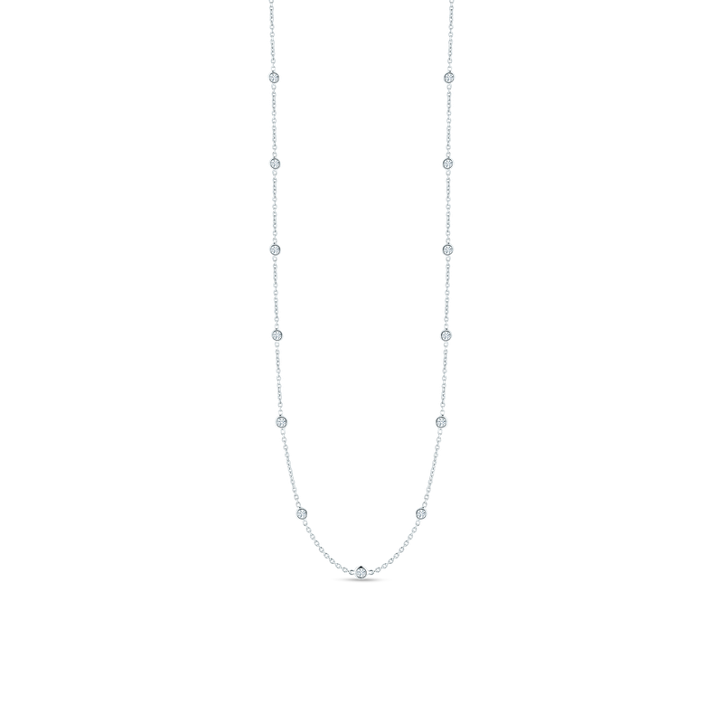 Roberto Coin 18KT GOLD 30 STATION LONG DIAMOND NECKLACE