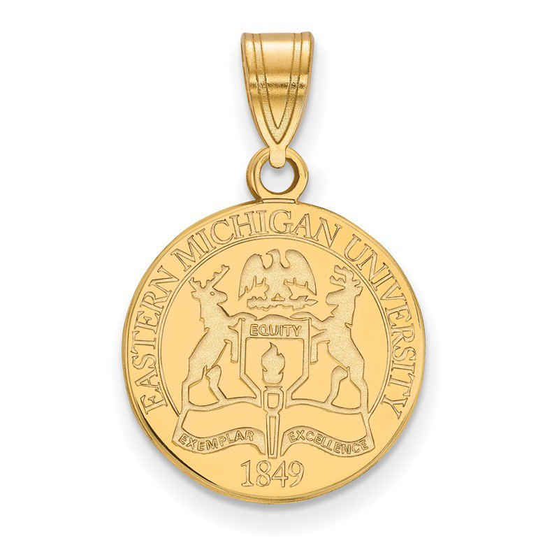 NCAA Gold-Plated Sterling Silver Eastern Michigan University NCAA Pendant
