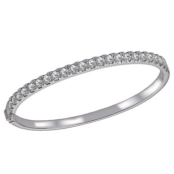 Ladies Diamond Hinged Bangle