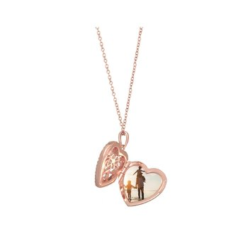 Mary Locket Necklace Rose Gold