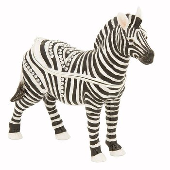 Zach the Zebra Trinket Box with Swarovski crystal