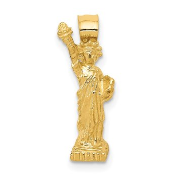 14k 3D Statue of Liberty Pendant