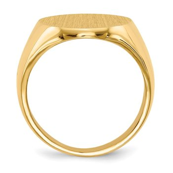 14k 20.5x16.0mm Closed Back Mens Signet Ring