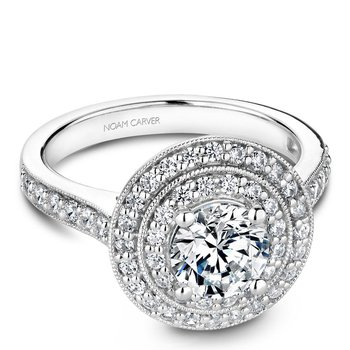 Noam Carver Vintage Engagement Ring B183-01A