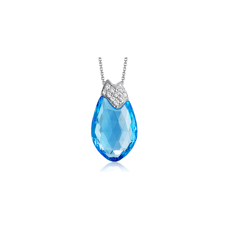 Zeghani ZP784 COLOR PENDANT