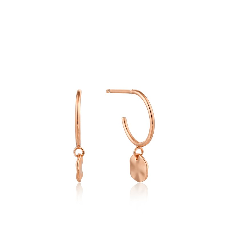 Ania Haie Ripple Small Hoop Earrings
