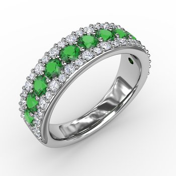None Like You Emerald and Diamond Ring