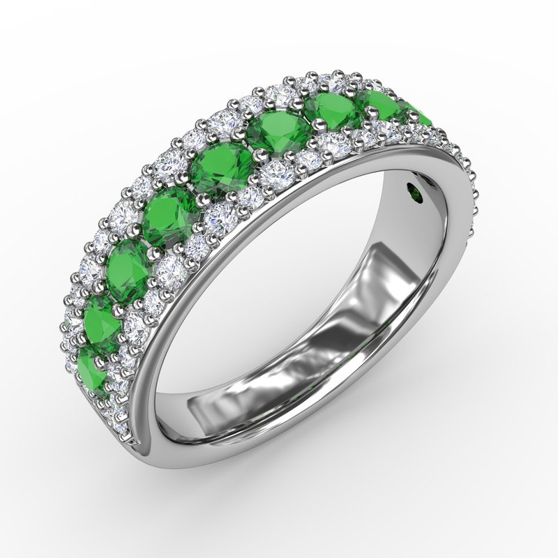 Fana None Like You Emerald and Diamond Ring
