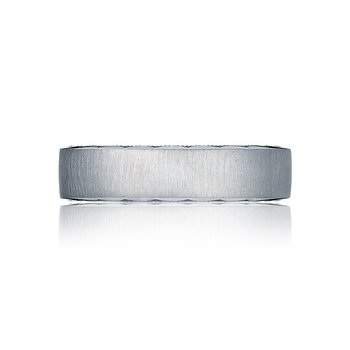 4mm Flat Etched Crescent Band
