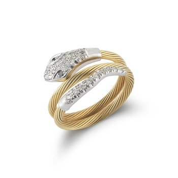14K-Y WIRE SERPANT RING, 0.25CT