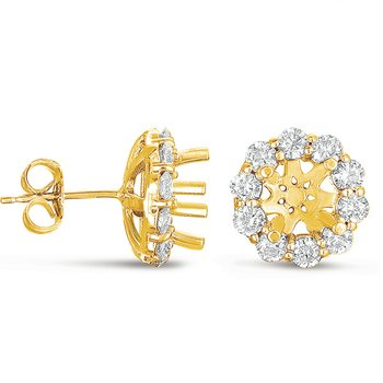 Halo Diamond Earring for 1.5ct total
