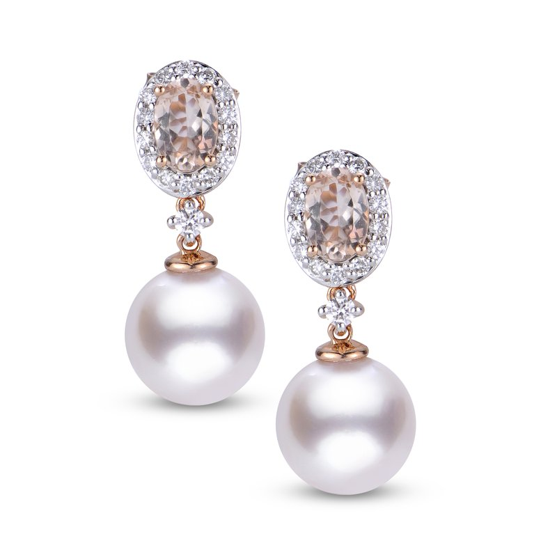 Imperial Pearl 14K Rose Gold Akoya Pearl Earrings
