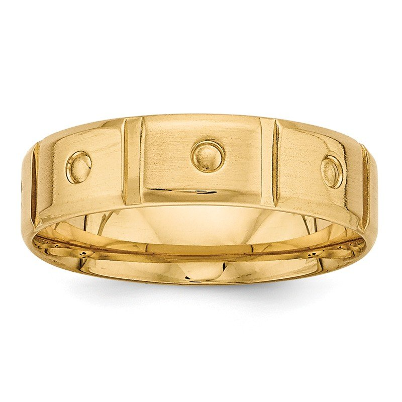 Lester Martin Online Collection 14k Yellow Gold Light Comfort Fit Fancy Band